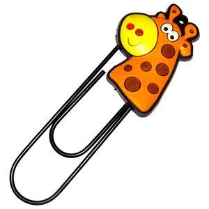 Закладка-скрепка Жираф
