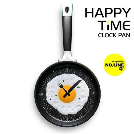 """Часы """"Сковорода"""" настенные желтые"""
