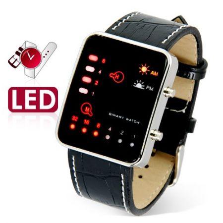 Led Watch - часы бинарные 8-32 наручные