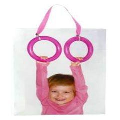 Пакет Подарочный L Ребенок на кольцах (26х32,4х12,7см)