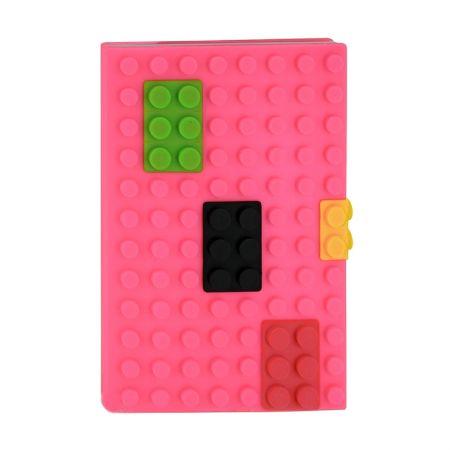 Обложка на паспорт Конструктор розовая