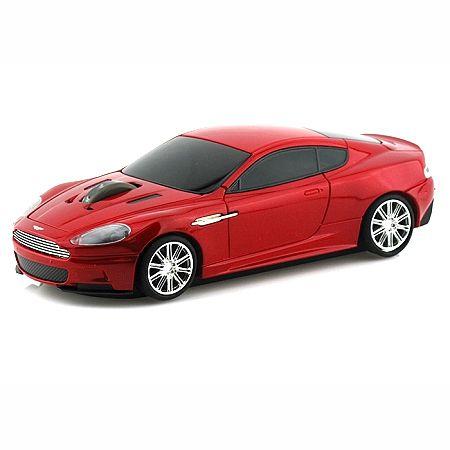 """Мышка """"Aston Martin"""" беспроводная 2,4GHz красная в виде автомобиля"""