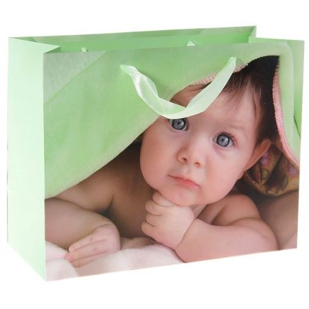 "Пакет М ""Подарочек для малыша"" 23,0 х 18,0 х 10,0 см"