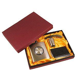 Подарочный набор с фляжкой и портсигаром
