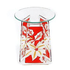 Аромалампа Белый цветок, цветное стекло, 14 см