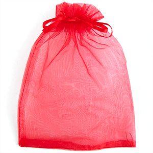 Мешочек для подарков, красный, 13х18 см