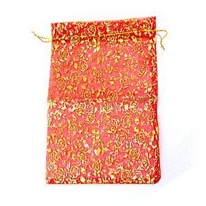 Мешочек для подарков, красный, 24х35 см