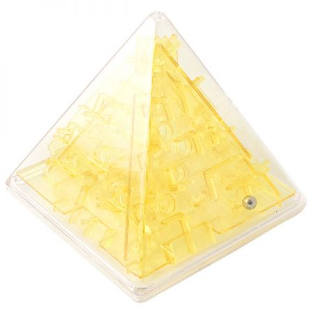 Головоломка лабиринт Пирамида желтая