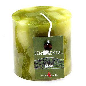 """Свеча """"Sentimental"""", запах-алоэ, 280 гр, 7 см"""