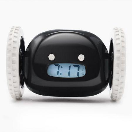 Убегающий будильник Clocky черный