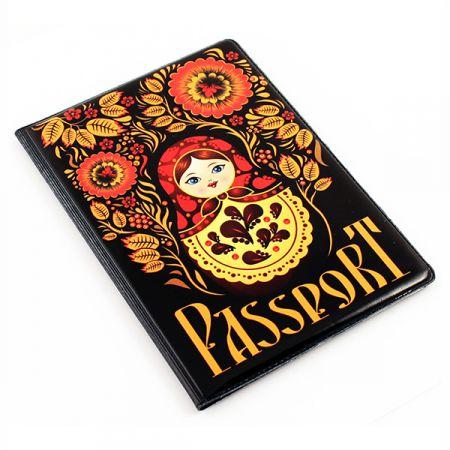 """Обложка для паспорта """"Матрешка"""""""