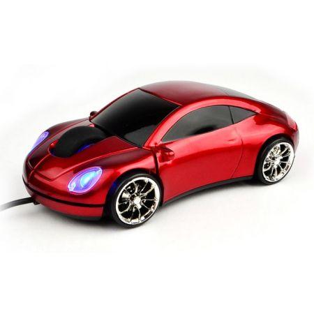 """Мышь """"Porsche 911"""" оптическая красная машина USB"""