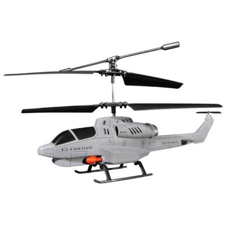 Боевой радиоуправляемый вертолет игрушка Gyro Fighter 6 ракет + мишени