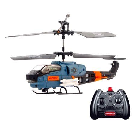 Радиоуправляемый вертолет игрушка Gyro-121 с гироскопом 17 см