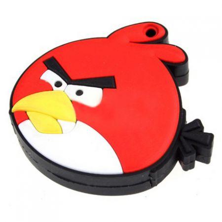 """Флешка """"Angry birds"""" 16 Гб красная птица плоская"""