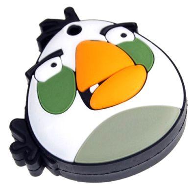 """Флешка """"Angry birds"""" 16 Гб белая птица плоская"""