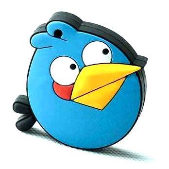 "Флешка ""Angry birds"" 8 Гб синяя птица плоская"