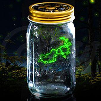 Светлячок в банке электронный зеленый