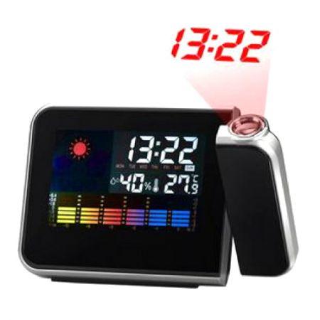 """Часы """"Метеостанция"""" с постоянной проекцией и будильником"""