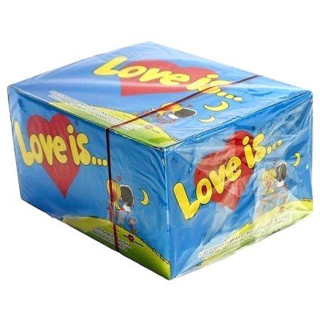 Жвачка Love is... Блок Клубника-Банан 100 шт