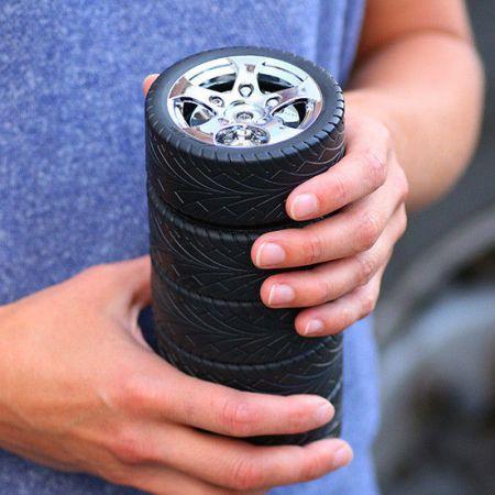 "Термо-кружка ""Шиномонтаж 5 Колес"" в виде колеса Tyre cup"