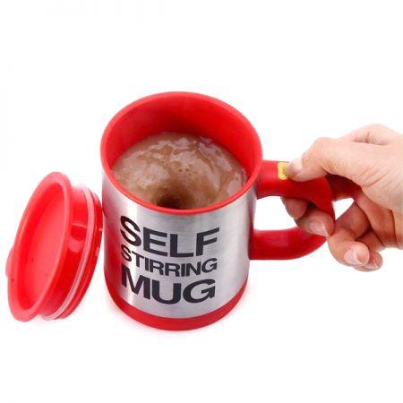 Кружка-мешалка красная Self Stirring Mug