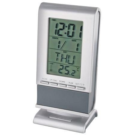 Настольные часы с будильником и термометром