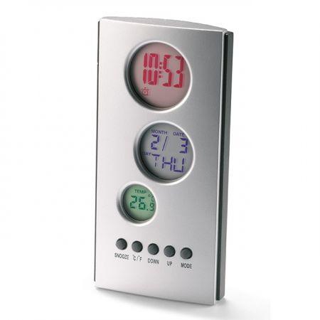 Настольные часы-будильник с календарем и термометром