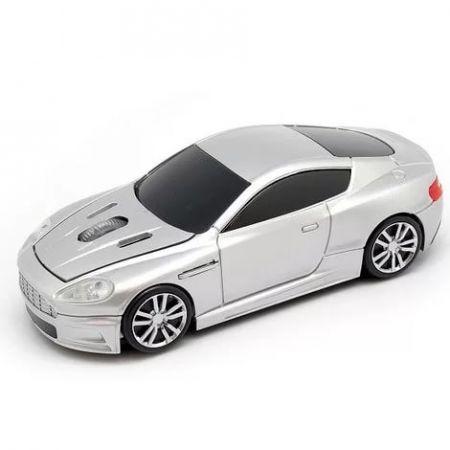 """Мышь - машинка """"Aston Martin"""" беспроводная 2,4GHz серебристая"""