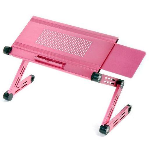 Столик-трансформер для ноутбука - розовый