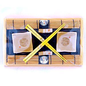 Набор для суши на 2 персоны с ковриками песочного цвета