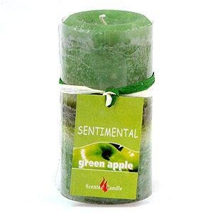 Свеча Sentimental, запах-яблоко, 170 гр, 10 см