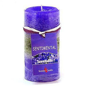 Свеча Sentimental, лаванда, 170 гр, 10 см