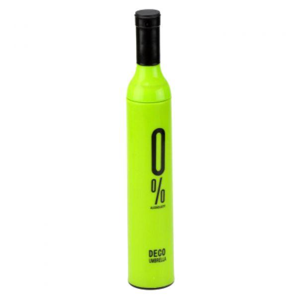 Зонт в бутылке зеленый