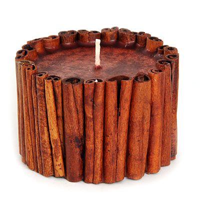 Свеча декоративная ручной работы Корица N-211-3