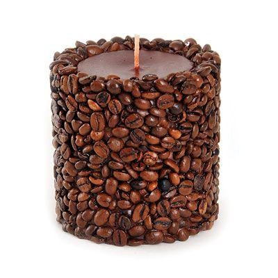 Свеча декоративная ручной работы Кофе №-203-3