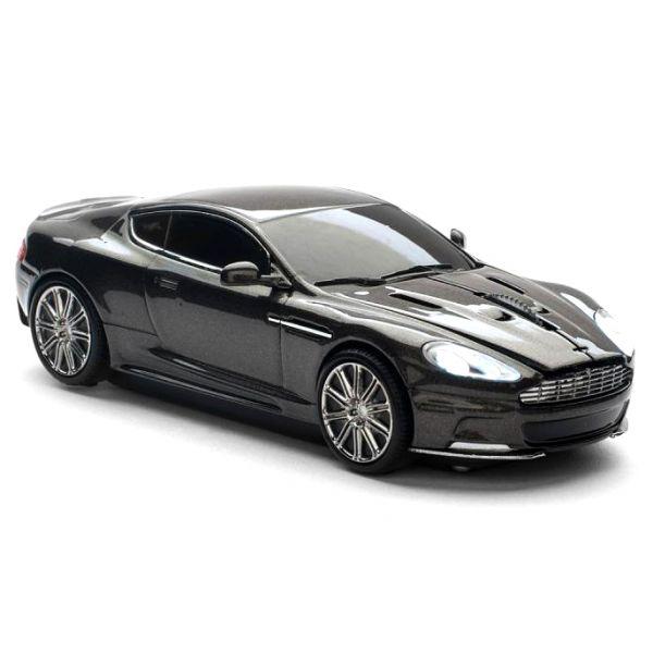"""Мышь - машинка """"Aston Martin"""" беспроводная 2,4GHz темно-серая"""