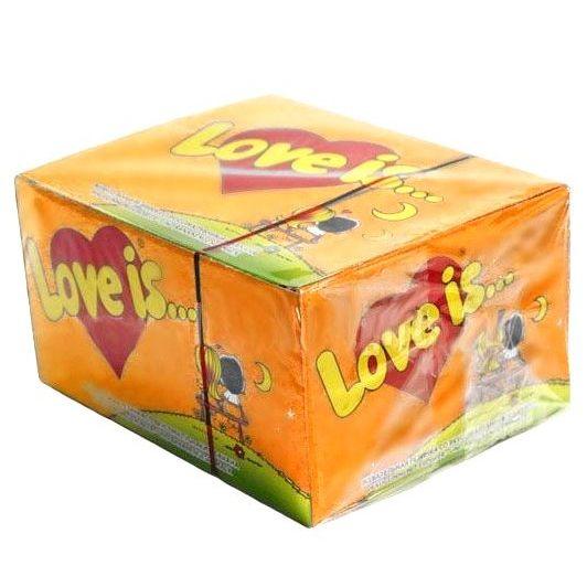 Жвачка Love is... Блок Ананас-Апельсин 100 шт