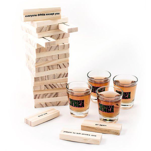 "Игра ""Пьяная башня"" с рюмками Jenga"